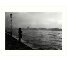 WOMAN AT THE CANALE Art Print