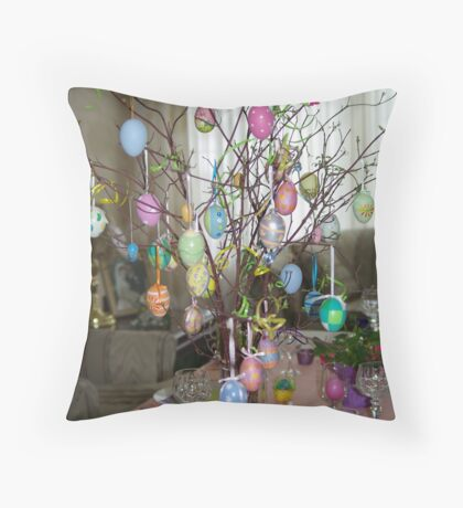 Easter Tree Throw Pillow