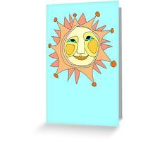 Sun Or Moon Or Stars Up In The Sky Greeting Card