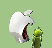 android eats apple by Prezioso