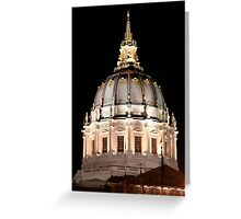 Low Light Photography San Francisco Architecture Greeting Card
