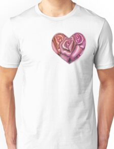 Pink Heart of Roses Unisex T-Shirt