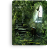 The Chapel in the Woods Canvas Print