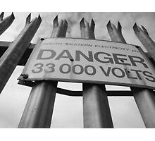 Danger, High Voltage Photographic Print