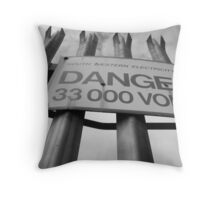 Danger, High Voltage Throw Pillow