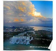 Niagara Falls - American Falls Dusk Poster