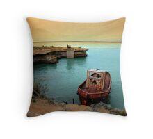 rusty boat.. Throw Pillow