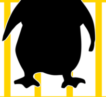 LINUX TUX PENGUIN CROSSING ROAD SIGN Sticker