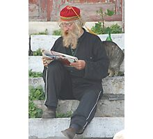 Man in Athens Photographic Print