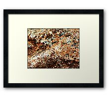 Hills And Gulleys Framed Print