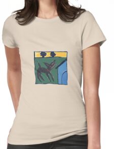 DOG HOUSE ART Womens Fitted T-Shirt