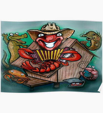 Cajun Band Poster