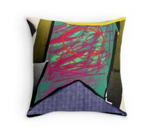 doubting mystics, but dreaming triangles Throw Pillow