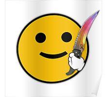 CS: GO Flip Knife Fade Poster