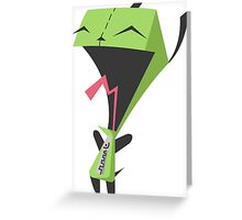 Invader Zim Gir Greeting Card