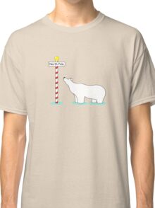 Paddling at the pole. Classic T-Shirt