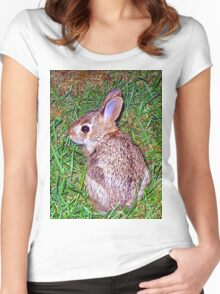 little baby bunny 2  Women's Fitted Scoop T-Shirt