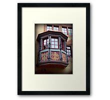 Swiss Window Box Framed Print