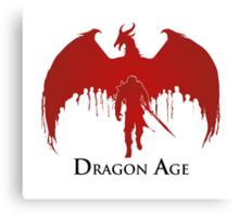 Dragon Age 2 Dragon and Hawke Canvas Print