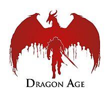 Dragon Age 2 Dragon and Hawke Photographic Print