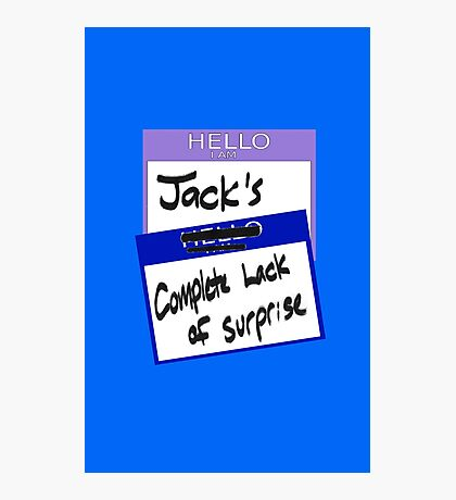 """Fight Club: """"I AM JACK'S COMPLETE LACK OF SURPRISE"""" Photographic Print"""