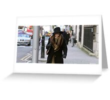 High Street Fashion Greeting Card