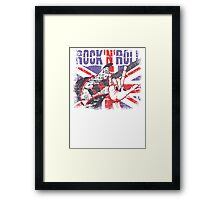 Rock n Roll Union Jack Framed Print