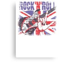 Rock n Roll Union Jack Canvas Print