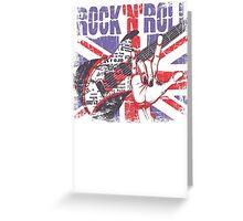 Rock n Roll Union Jack Greeting Card