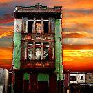 17th sunset - S.W. Philadelphia by Jeff  Wiles