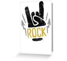 Rock Horns Greeting Card
