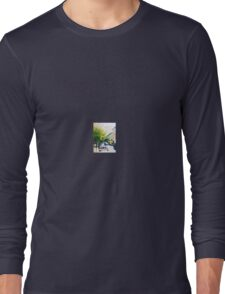 Priest on Bike using cell phone Long Sleeve T-Shirt