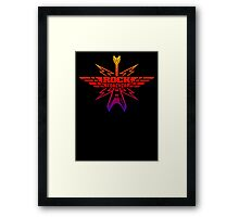 Rock Forever Guitar Framed Print