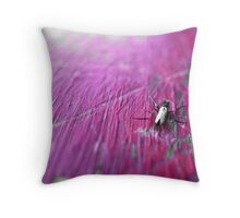 Fly on Pink Table Throw Pillow