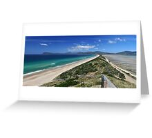 """The Neck"" at Bruny Island Greeting Card"