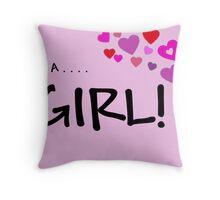 New Baby Girl Throw Pillow