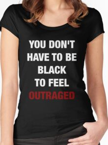 YOU DON'T HAVE TO BE BLACK (I CAN'T BREATHE) Women's Fitted Scoop T-Shirt
