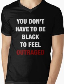 YOU DON'T HAVE TO BE BLACK (I CAN'T BREATHE) Mens V-Neck T-Shirt