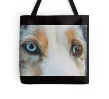 Australian Shepherd Blue Merle Eye Tote Bag