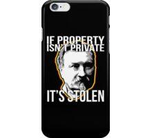 Gustave Molinari Anarchist Private Property Libertarian iPhone Case/Skin