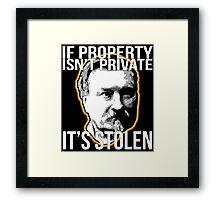 Gustave Molinari Anarchist Private Property Libertarian Framed Print