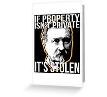Gustave Molinari Anarchist Private Property Libertarian Greeting Card