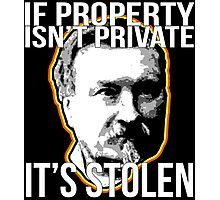 Gustave Molinari Anarchist Private Property Libertarian Photographic Print