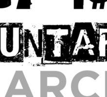 Market Anarchism Text Sticker