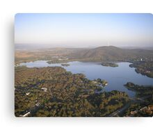 bird's eye view of canberra Canvas Print