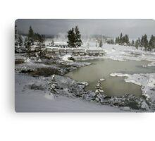 Yellowstone in Winter Metal Print