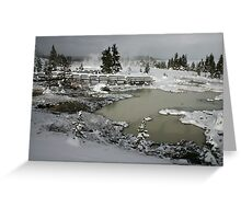 Yellowstone in Winter Greeting Card