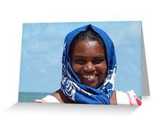 sri lankan seller on the beach Greeting Card
