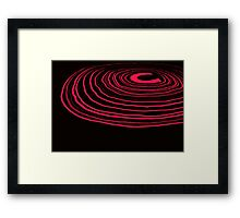 Neon Ripples (pink) Framed Print