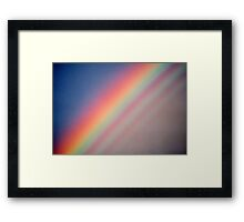 Rainbow with supernumerary bows. Framed Print